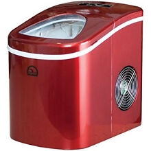 Portable Compact Ice Maker Machine Counter Top Sonic Cube Nugget Dispenser RED