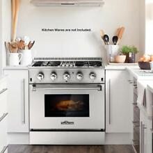 30  4 Burner Gas Range Electric Oven Dual Fuel Stainless 2 Years Warranty Q7O2