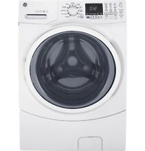 GE  4 3 CU  FT  FRONT LOAD WASHING MACHINE  WHITE  GFW450SSKWW