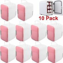 10 Pack Portable Mini Fridge Cooler   Warmer Auto Car Boat Home AC   DC Pink FH