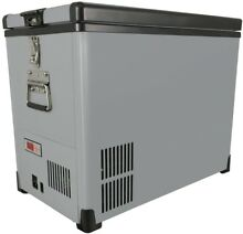 Chest Freezer Refrigerator Portable Manual Defrost 45 Qt Slim Fit LED Insulated