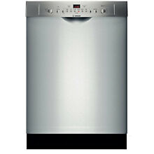 24  Built In Dishwasher SHE3AR75UC BOSCH Stainless Steel SELF CLOSING DOOR