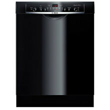 24  Built In Dishwasher 6 Cycles Bosch SHE3AR76UC Stainless Steel BLACK