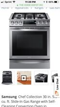 30 in  5 8 cu  ft  Slide In Gas Range with Self Cleaning Convection Oven in Stai