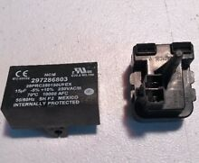 NEW OEM Frigidaire Refrigerator start relay Parts   297259528 W cap 297286803