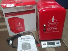 Coca Cola Compact Refrigerator Personal Mini Fridge hold 6 12oz Cans travel