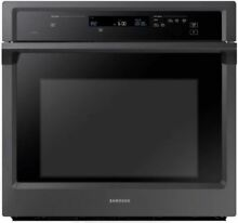 Samsung NV51K6650SG 30  Single Electric Convection Wall Oven Black Stainless