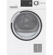 GE GFT14ESSLWW 4 0 Cu Ft  Stainless Steel 24  Frontload Electric Dryer