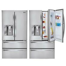 LG LMX30995ST 4 Door French Door Refrigerator with Door in Door Stainless Steel