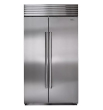 Sub Zero 42  Inch Stainless Steel Built In Side By Side Refrigerator BI 42S S PH