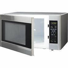 Sharp R551ZS 1 8 cu ft 1100 W Over the Counter Microwave Oven  Stainless Steel