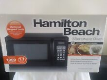Hamilton Beach 1 1 Cu Ft Microwave Oven  1000 Watt Black