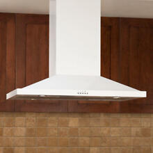 36  Artisan Series Stainless Steel White Island Range Hood with 600 CFM Fan