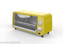 New Yellow Stainless Steel Mini Electrical Toaster Ovens Convection Turbo Ovens