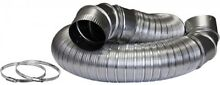 All Metal Laundry Dryer Duct Vent Elbow Hook Up Kit Everbilt 4 in  x 8 ft