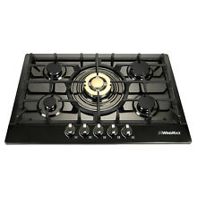 30  Stainless Steel Built in 5 Burner Gas Hob Stoves Natural Gas Cooktops Cooker