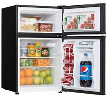 Danby 3 2 Cu Ft  Compact Top Mounted Refrigerator Freezer w  Glass Shelves Black