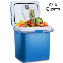 26L Portable Electric Cooler Fridge Food Warmer Digital Plug In Refrigerator