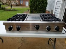 Viking 36   Pro Stainless Rangetop 4 burner and Griddle