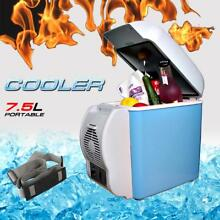 7 5L Portable Mini Fridge Cooler Warmer Car 12V Electric Refrigerator Box Travel