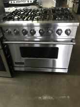 VIKING 36 inch dual fuel 6 burner convection range