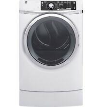 GE GFD49ERSKWW 8 3 cu  ft  Design Front Load Electric Dryer w  Steam