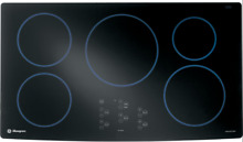 GE Monogram ZHU36RBMBB 36  Electric Smoothtop 5 Burner Induction Cooktop  Black