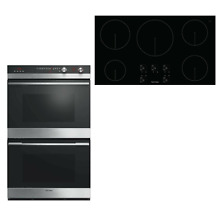 Fisher Paykel CI365DTB1 OB30DDEPX3 30  Stainless DBL Oven 36  Induction Cooktop
