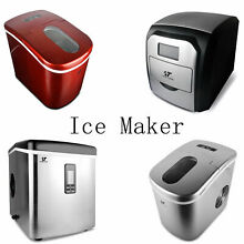 Stainless Steel Cold Water Machine Countertop Freestanding Fast Bullet Ice Maker