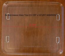 15 7 8  x 13 5 8  GE Microwave Plate Rectangle Tray Footed Platter Turntable