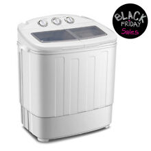 Mini Portable Compact Washing Machine 13lbs Twin Tub Laundry Washer Spin Dryer