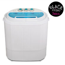 Portable Mini Washing Machine Compact 13lbs Twin Tub Laundry Washer Spin Dryer