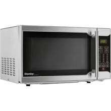 Danby 18  Wide 0 7 Cu  Ft  Countertop Microwave with 700 Watt in Stainless Steel