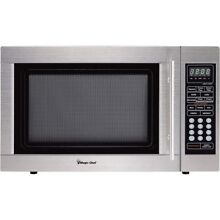 NEW Magic Chef MCD1310ST 1 3 cu  ft  Countertop Microwave Oven cu Ft SS