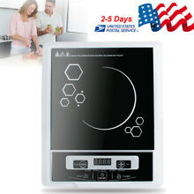 Electric Portable Induction Cooker Single Burner Cooktop Digital LED Display USA