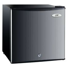 SPT Upright Compact Freezer Stainless Steel 1 1 Cu  Ft  Includes Lock And Key