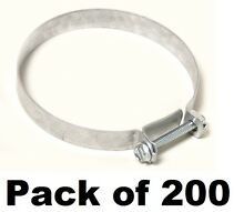 200  Breeze   DV3 3  Galvanized Nut   Bolt Style Hose Clamps for Dryer Vents