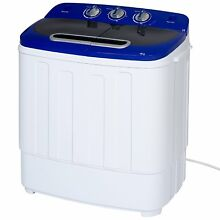 Washing Machine Portable Compact Mini Twin Tub Spin Home Washer Laundry Dryer