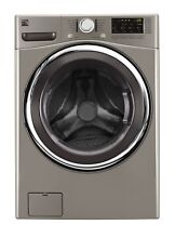 Kenmore Kenmore 41393 4 5 cu  ft  Front Load Washer w Accela Wash   Metallic Si