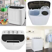 Portable Mini Compact Twin Tub Washing Machine Washer Spin Dryer Cycle Camping