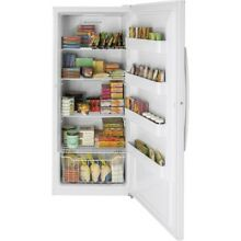 21 3 cu  ft  Frost Free Upright Freezer in White