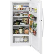 14 1 cu  ft  Frost Free Upright Freezer in White