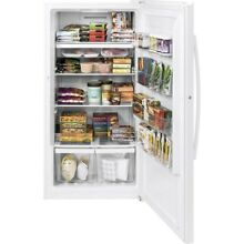 17 3 cu  ft  Frost Free Upright Freezer in White