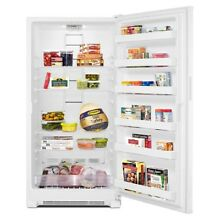 19 7 cu  ft  Frost Free Upright Freezer in White