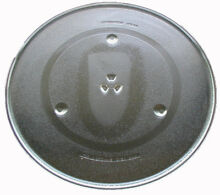 16 5  GLASS MICROWAVE TURNTABLE PLATE w  TRACK  fits Thermador Panasonic   more
