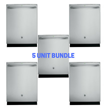 BULK 5X GE DDT595SSJSS Stainless Steel Interior Dishwasher with Hidden Controls