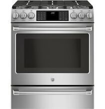 GE Caf  C2S986SELSS 30  Slide In Dual Fuel Range with Warming Drawer