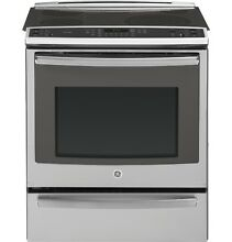 GE PS920SFSS Profile 30  Slide In Electric Convection Range w  Warm Drawer  NIB