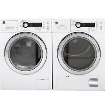 GE Laundry Pair  WCVH4800KWW Washer  DCVH480EKWW Electric Dryer  Stacking Kit