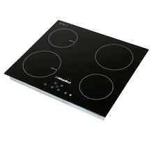23 5  Induction Hob Glass Panel Stove Cooktops 4 Burner 2 Ceramic